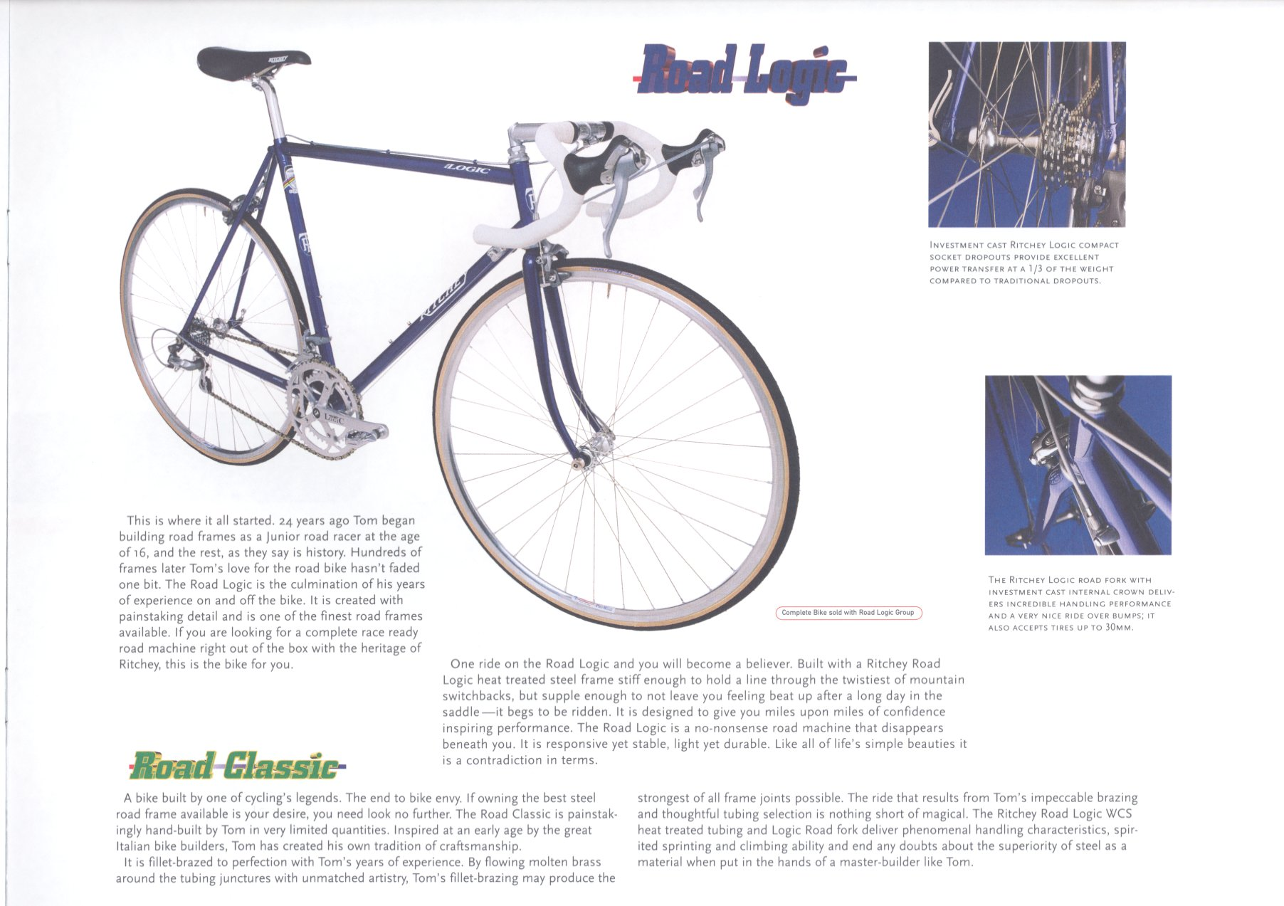 6851d9a47 Old Mountain Bikes  1997 Ritchey Catalog